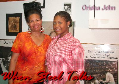 Orisha John, with Mom