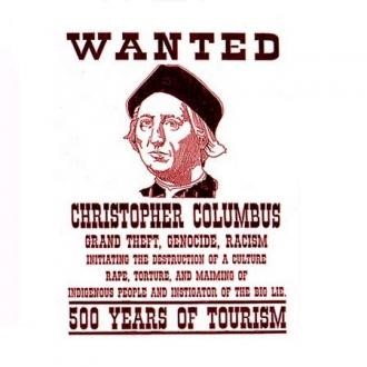 """Wanted"" poster for Christopher Columbus"