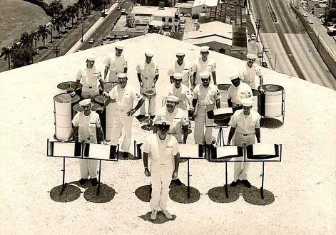 Navy Steel Band on the roof of the Caribe Hilton in San Juan, Puerto Rico