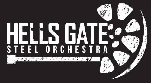 Band logo of Hells Gate Steel Orchestra - Antigua - When Steel Talks
