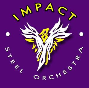 Impact Steel Orchestra band logo - When Steel Talks