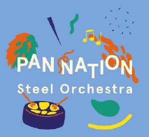 Pan Nation Steel Orchestra band logo - When Steel Talks