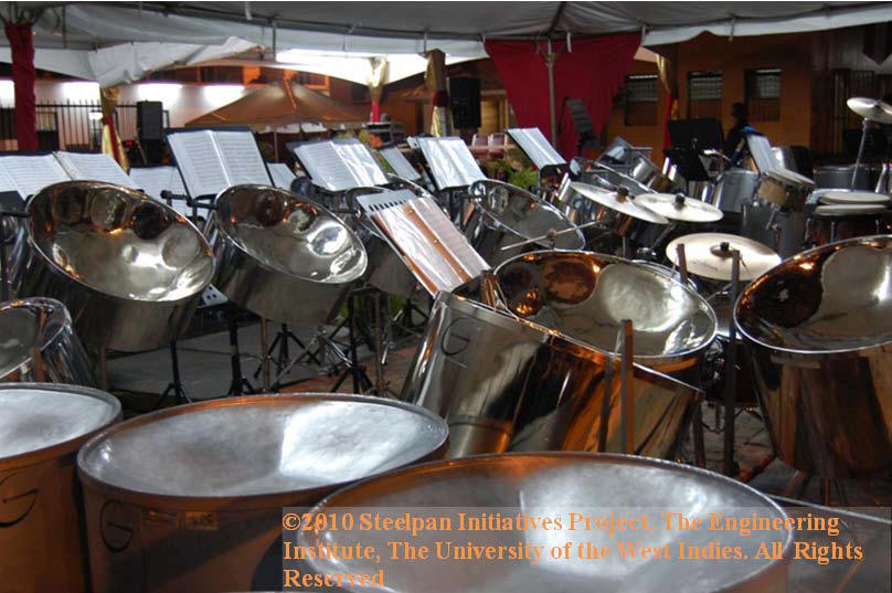 G-Pans at the launch of the Steelpan Museum, Port of Spain