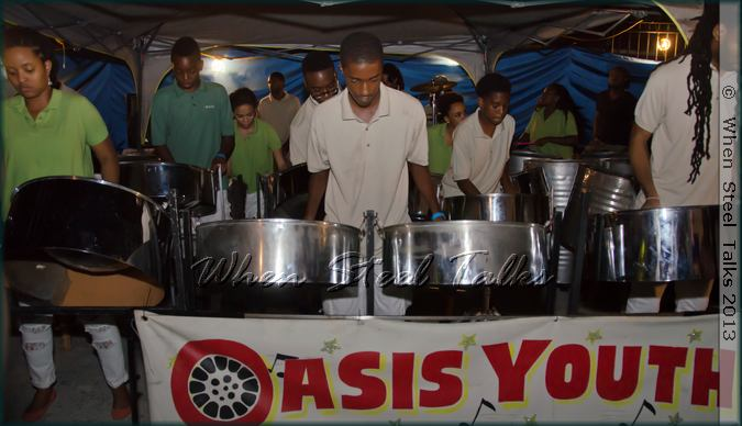 OASIS Youth Steel Pan Ensemble performs at CASYM'S 2013 band launch