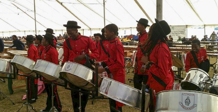 St. Jude's Private Steel Band at the 2014 International Marimba and Steelpan Festival