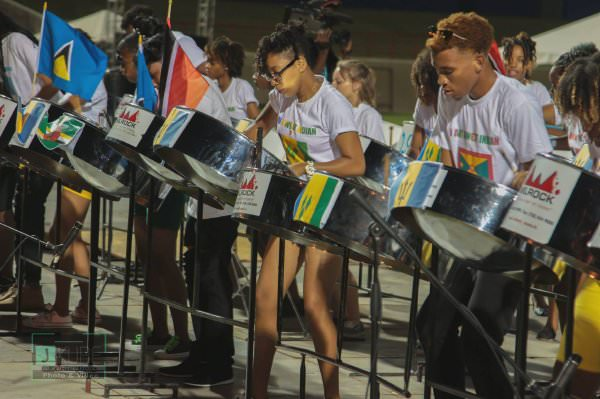 Laborie Steel Orchestra performs during the 2016 Panorama  -  photo: Johnson Jkube James
