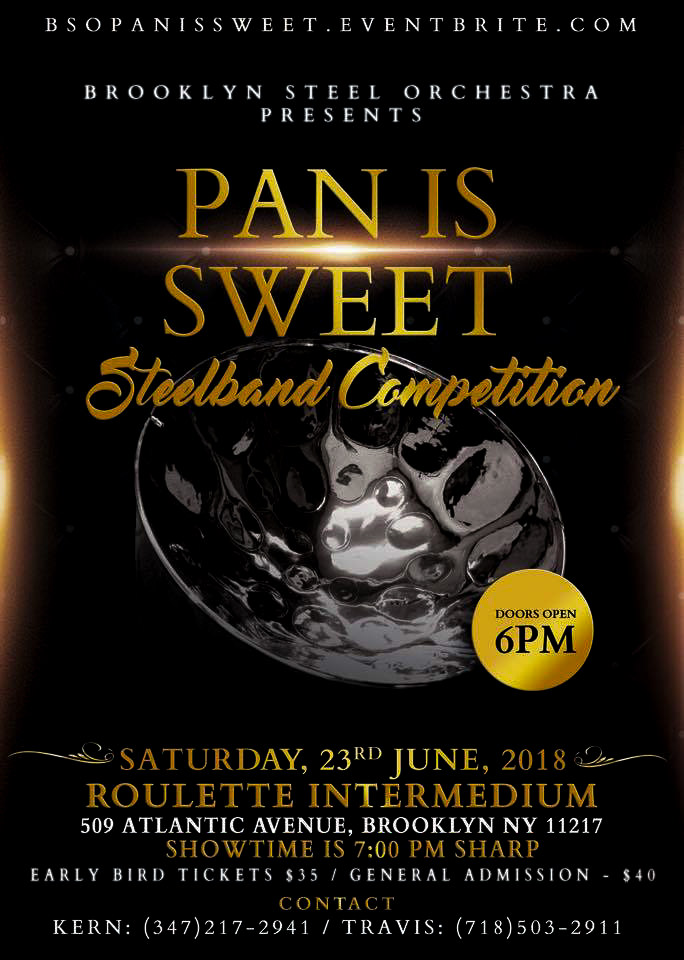 Promotional Flyer for Pan Is Sweet 2018 concert