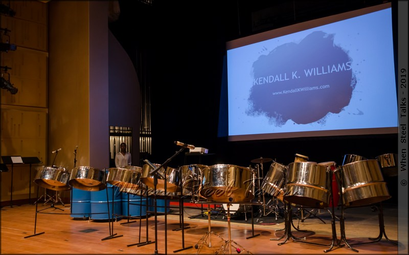 Steel Ensemble on Stage for Kendall K. Williams Faculty Recital
