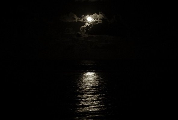 Moon over Saigon River