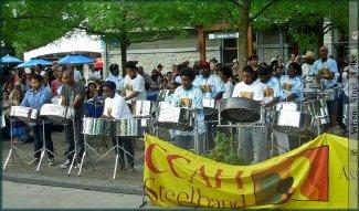 The CCAH (Canadian Caribbean Association of Halston) Steelband from Oakville, Ontario