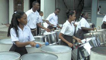 Success Laventille Secondary during the SanFest preliminary round