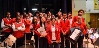 Philippa Schuyler Middle School Major Steelpan Ensemble after the concert