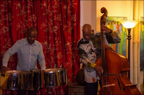 Garvin Blake on double second and Ron Reid on double bass