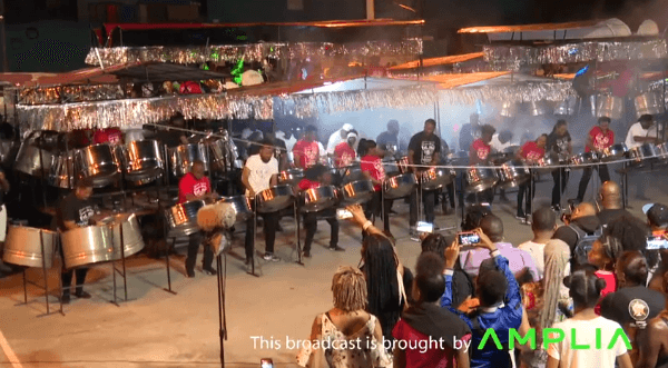 Trinidad All Stars Steel Orchestra during its 2020 Panorama preliminary performance