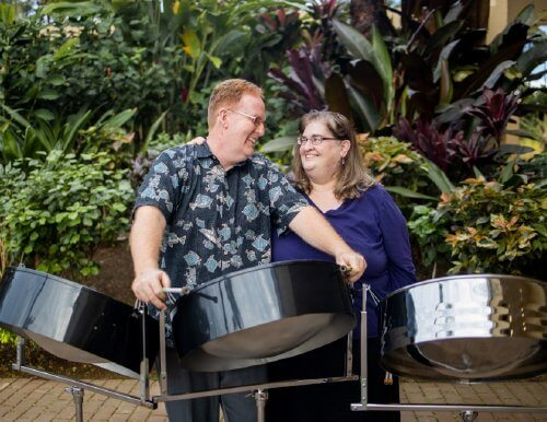 The Duerdens with their steel drums