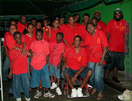 Daisy James Mc Lean (standing, front right) - with Harlem Syncopators