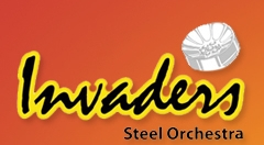 Invaders Steel Orchestra band logo - When Steel Talks