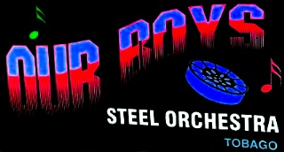 Our Boys Steel Orchestra band logo - When Steel Talks