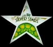 Silver Stars Steel Orchestra band logo - When Steel Talks