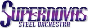 Supernovas Steel Orchestra band logo - When Steel Talks