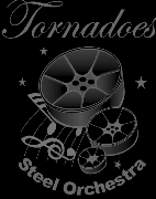 Tornadoes Steel Orchestra band logo - When Steel Talks