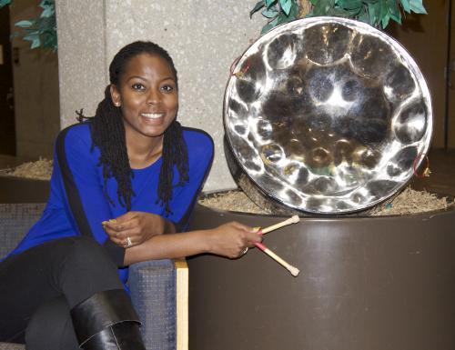 Steelpan soloist Josanne Francis